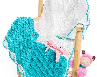 CROCHET PATTERN Candy Clouds Baby Blanket/Any Size Throw Ebook Crochet Pattern in Pdf Instant Download