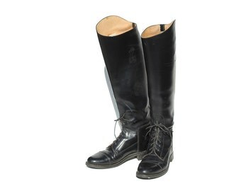 Vintage Black Leather Equestrian Boots / Riding Boots / size 7