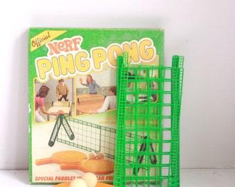Vintage Nerf ping pong set family game night