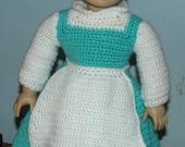 18 inch American Girl Crochet Pattern - Belle - Blue Dress