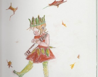"Concept Sketch print for ""Copper"" Art doll"