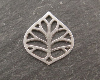 Sterling Silver Leaf Connector 14mm (CG7668)