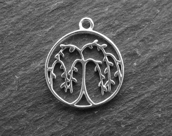 Sterling Silver Willow Tree Pendant 16.5mm (CG8813)