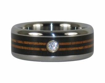Longboard Diamond Wedding Ring for Surfers