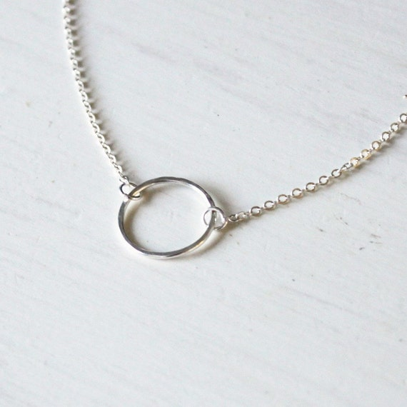Simple Necklace, Silver Eternity Necklace, Everyday Necklace, Dainty Necklace Silver Necklace, Friendship Necklace, Bridesmaid Gift