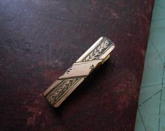 victorian lingerie clip - engraved gold filled clip