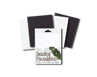 Black White Beadsmith Beading Foundation Mix, 43463 (4 sheet) 4.25x5.5inch, Bead Foundation, Beadwork Foundation, Bead Embroidery Backing
