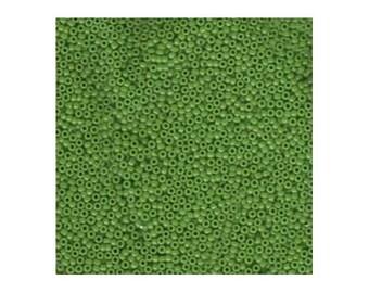 Miyuki Seed Beads 15/0 Opaque Pea Green 15-411 8.2g, Round Seed Beads, Glass Seed Beads, Size 15 Seed Beads, Japanese Seed Beads, Tiny Beads
