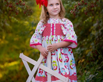 Knot Dress and 3/4 Sleeve Shirt Merry Matryoshka Dolls Available sizes: 12 months - 6  Handcrafted by Valeriya