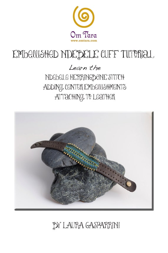 leather and bead bracelet instructions