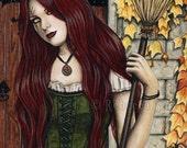 Season of the Witch 13 x 19 Print Gothic Autumn HALLOWEEN Art