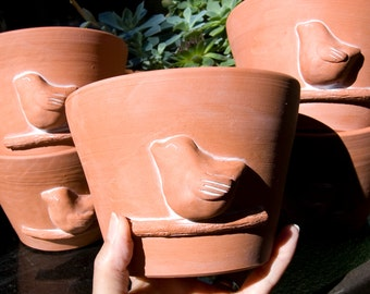 Terra Cotta Bird Planter