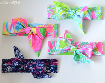 Lilly Pulitzer Fabric Bow Headwrap - Headband - Baby Headband - Toddler Headband