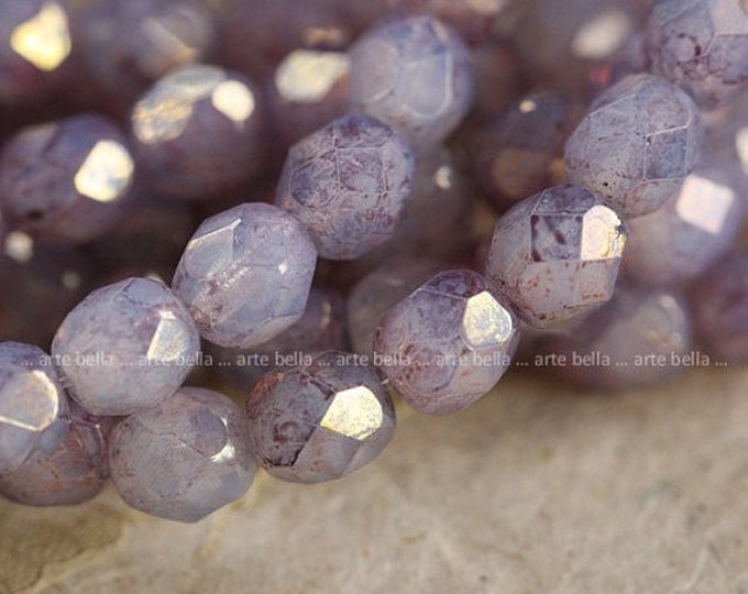 SO ME 6mm .. 25 Premium Czech Opal Glass Beads 6mm (4001-st)