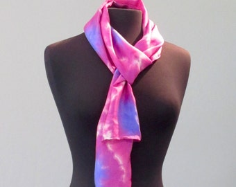 Morning Glory Shibori Silk Scarf