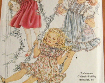 Simplicity 5595 Childrens Cinderella Clothing Pattern