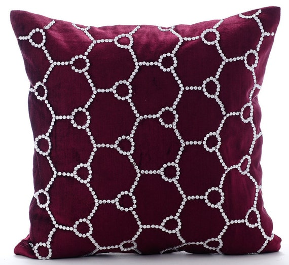 Most Expensive Throw Pillows : Luxury Purple Decorative Pillows Cover 16x16