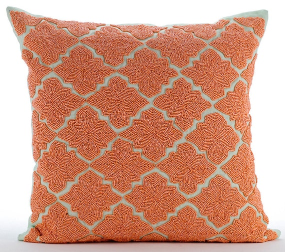 Orange Throw Pillows Cover For Couch 16x16 Square