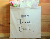Flower Girl Bridal Party Gift Tote