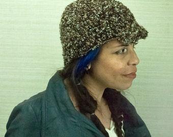 Brown Earthy Tones Hat Billed Beanie