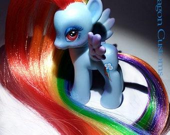 "Custom MLP G4 ""Rainbow Dash Remix"" My Little pony OOAK"