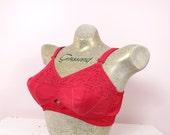 1960s Penney's Adonna Red Bra Size 36