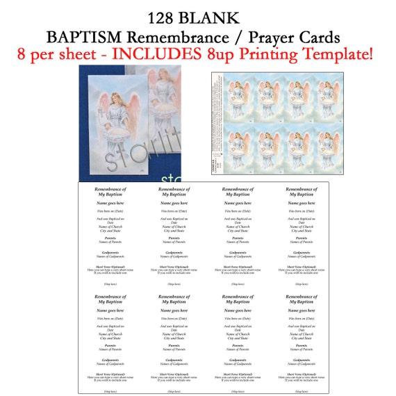 baptism remembrance cards baptism prayer cards favors. Black Bedroom Furniture Sets. Home Design Ideas