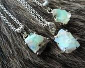 SEMI-ANNUAL SALE Opal necklace | Raw opal necklace | Fire opal necklace | Rough opal | Opal crystal necklace