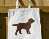 Chocolate Dog Silhouette Market Bag