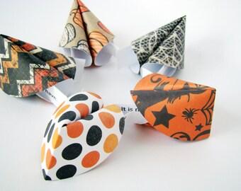 Halloween Origami Fortune Cookies - Set of 10