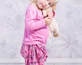 Girl's Flannel Harem pants, PJ's, pajamas, Harem pants, Baby pants, Toddler, Infant, Spring, Winter, lounge pants, sizes newborn through 6X