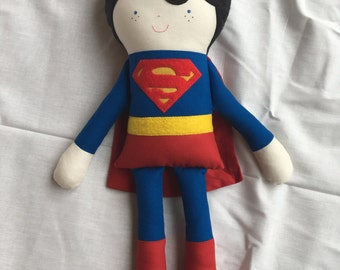 Superman fabric doll, Stuffed toy, Boy doll, Action Figure Doll, Comic, Superhero