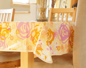 Laminated Cotton Tablecloth - Saturday Floral