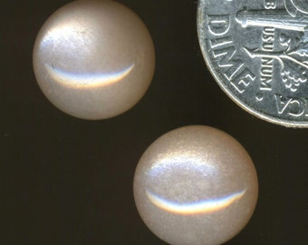 PEACH MOONSTONE AA grade 10mm Cabochons One Pair