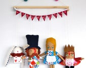 Alice in Wonderland Wall Hanging // Whimsical, Magical and Unique Children's Decor