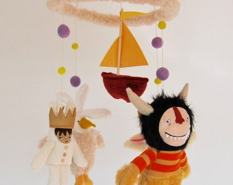 Where the Wild Things Are Baby Mobile //  A modern and Magical Mobile for a Baby with a Wild Heart