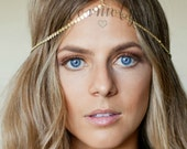 CHAIN HEADPIECE- head chain headdress chain headpiece / boho chic