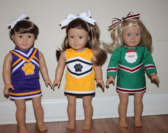 Victory Cheerleading Uniform for DOLLY PDF Sewing Pattern Sized for 15 and 18 inch dolls