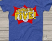 Superhero birthday t shirt - personalized superhero party shirt - pick any age
