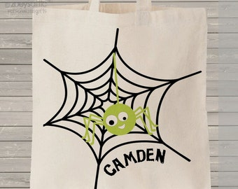 Halloween bag trick or treat spider bag perfect to use as a halloween bag to collect all the candy MBAG1-019