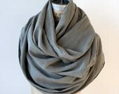 Reserved for Paula, Sale Gray Scarf , linen scarves, holiday gifts , autumn accessories, 058