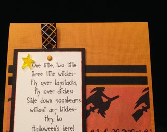1-2-3 Witches Halloween Card