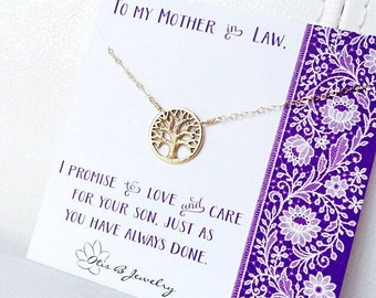 Mother in law gift, mother of the groom gift, gift from bride to mom, wedding jewelry for mother of the groom, Otis b, family tree necklace