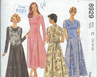 McCall's 8929 Misses' Dress - Size 10-12-14 - Uncut Pattern
