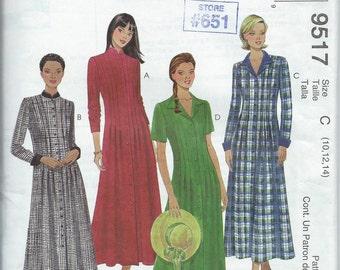 McCall's 9517 Misses' Dress - Size 10-12-14 - Uncut Pattern