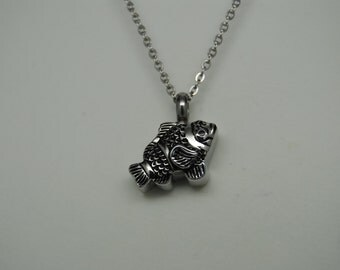 Fish memorial etsy for Fish urn necklace