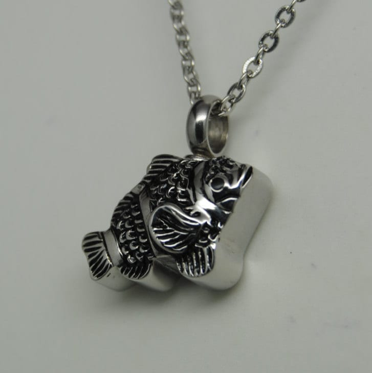 fish cremation jewelry fish urn necklace memorial keepsake urn
