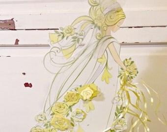 Vintage Bridal Shower Decor | Honeycomb Centerpiece Bride