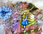 Mixed Media embellished applique, Alice