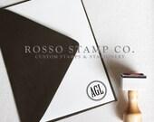 Monogram Stamp, Wedding Monogram Stamp, Custom Stamp - Style No. 8
